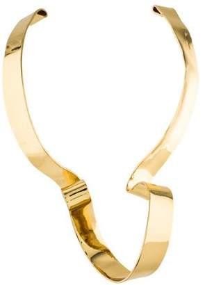 Alexis Bittar Large Ribbon Collar Necklace