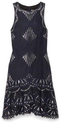 Jonathan Simkhai Metallic Lace Mini Dress - Navy