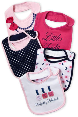 Baby Essentials Little Treasure (Newborn/Infant Girls) 5-Pack Polished Bibs