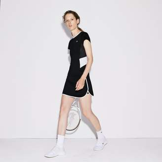 Lacoste Women's SPORT Contrast Edging Jersey Tennis Skirt