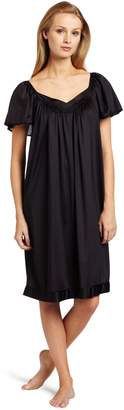 Vanity Fair Women's Coloratura Sleepwear Short Flutter Sleeve Gown 30109