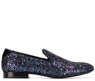 Jimmy Choo Thame glitter slippers