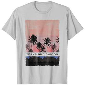 Turks & Caicos T Shirt Caribbean Beach Clothes Ocean Sunset