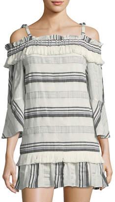 Rachel Zoe Covie Off-The-Shoulder Stripe Dress
