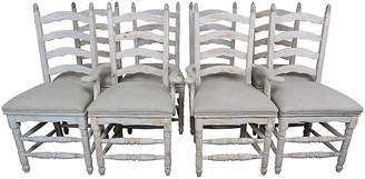 One Kings Lane Vintage French Painted Dining Chairs - S8