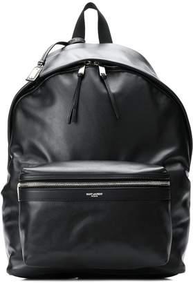Saint Laurent leather look logo backpack