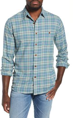 Faherty Seaview Stretch Organic Cotton Plaid Sport Shirt