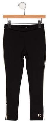 Karl Lagerfeld Girls' Zip-Accented Leggings w/ Tags