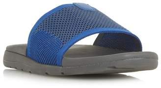 Dune Blue 'Hanks' Knit Strap Slider Sandals