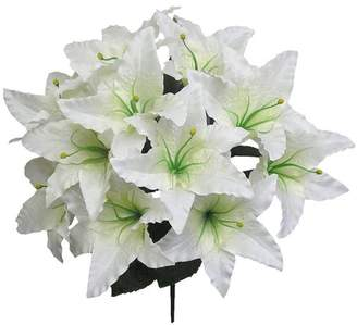 Beachcrest Home 14 Stems Artificial Full Blooming Tiger Lily Mixed Bush with Greenery