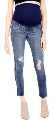 Ingrid & Isabel Maternity Sasha Skinny Jeans in Distressed
