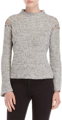 John & Jenn John + Jenn Margo Lace-Up Shoulder Sweater