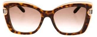 Salvatore Ferragamo Tortoiseshell Logo Sunglasses