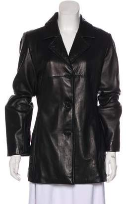 Andrew Marc Leather Short Coat