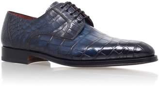 Magnanni Alligator Leather Derby Shoes