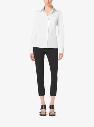 Michael Kors Cotton-Poplin Button-Down Shirt