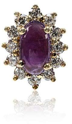 Rosa De La Cruz Amethyst and Diamond Single Stud Earring