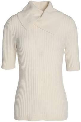 Ganni Ribbed Merino Wool-Blend Sweater