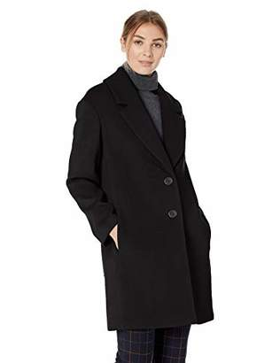 Lark & Ro Women's Single Breasted Shawl Collar Coat