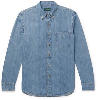 J.Crew Button-down Collar Denim Shirt - Indigo