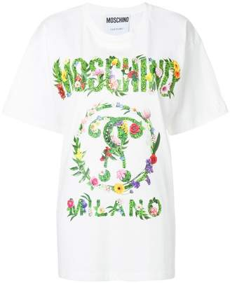 Moschino floral logo T-shirt