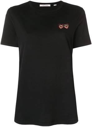 Parker Chinti & heart embroidered T-shirt