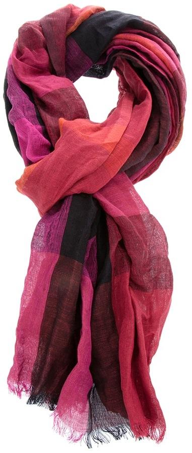 Burberry London silk/linen blend scarf