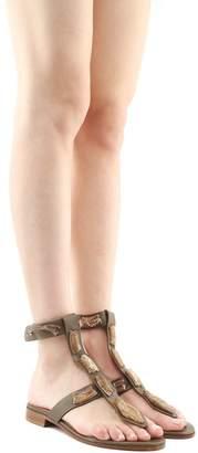 RED Valentino Sin Snake-embellished Leather Sandals