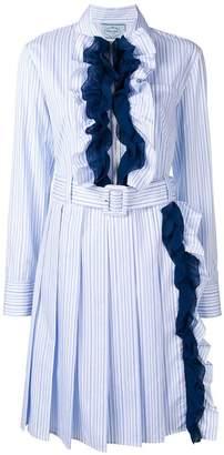 Prada ruffle-trimmed dress