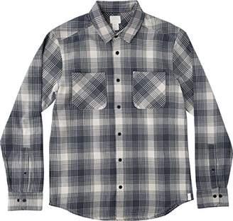 RVCA Men's Neutral Plaid Long Sleeve Woven Shirt
