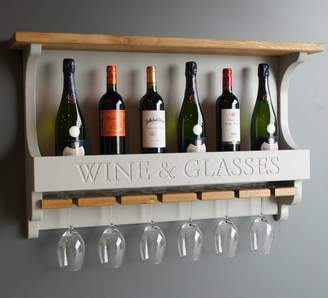 Rails Chatsworth Cabinets Wall Mounted Wine Rack With Wine Glasses Holder