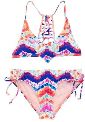 Hobie Chevron Two-Piece Swimsuit