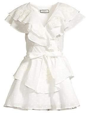 Innika Choo Women's Pi Furlunche Cotton Ruffle Dress