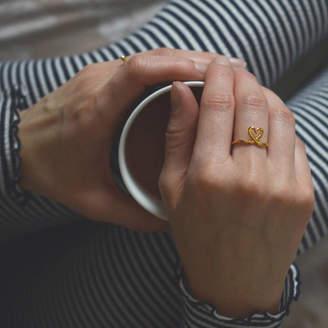 Buff Jewellery Shape Of My Heart Ring