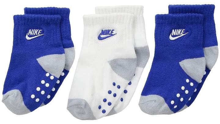 Nike Kids 3-Pair Pack Futura Gripper Socks (Infant/Toddler)