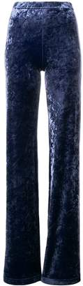 Plein Sud Jeans velvet flare trousers