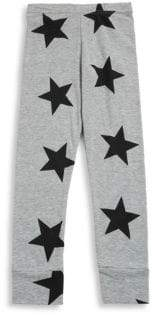 Nununu Baby Girl's and Little Girl's Star Cotton Leggings