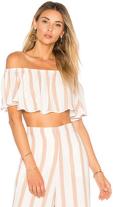 House of Harlow 1960 X REVOLVE Bree Crop Top in Beige $110 thestylecure.com
