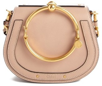 Chloe Small Nile Bracelet Leather Crossbody Bag - Beige $1,550 thestylecure.com