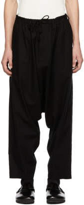 Yohji Yamamoto Black Regular Sarouel Trousers