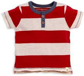 Burt's Bees Rugby Stripe Henley Organic Baby Boy Tee