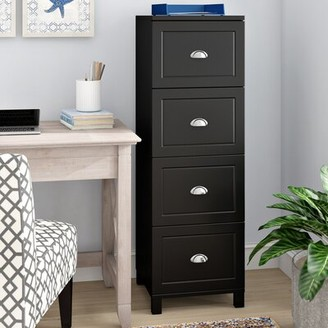 Beachcrest Home Rothrock 4 Drawer Vertical Filing Cabinet