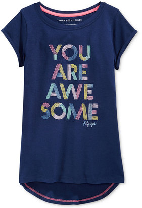 Tommy Hilfiger You Are Awesome Graphic-Print T-Shirt, Big Girls (7-16) $19.50 thestylecure.com