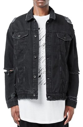Topman AAA Collection Ripped Denim Jacket $130 thestylecure.com