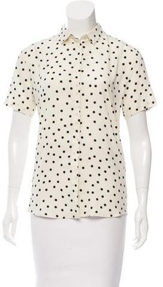 Paul Smith Polka Dot Print Top $65 thestylecure.com