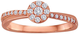 JCPenney MODERN BRIDE 1/5 CT. T.W. Diamond 10K Rose Gold Bridal Ring