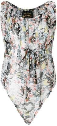 Vivienne Westwood patterned blouse
