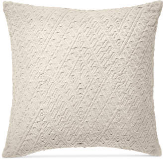 "Lucky Brand Diamond Matelasse 18"" Square Decorative Pillow, Created for Macy's Bedding"