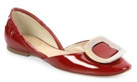 Roger Vivier Ballerine Chips Patent Leather D'Orsay Flats $650 thestylecure.com