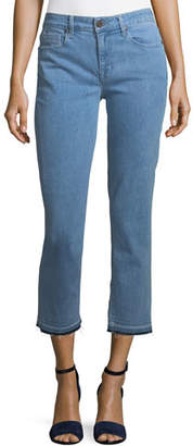 Parker Smith Cropped Straight-Leg Jeans with Released Hem